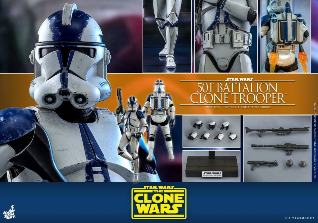 501st Battalion Clone Trooper - The Clone Wars - Hot Toys 1023