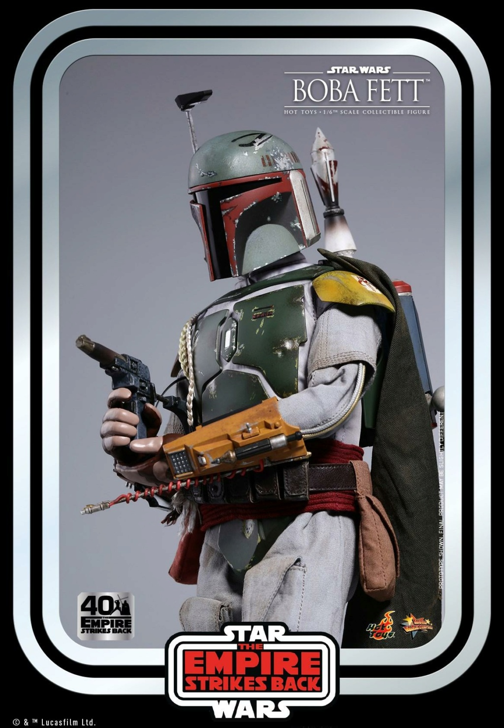 Boba Fett 1/6th scale Figure ESB 40th Anniv Hot Toys 1027
