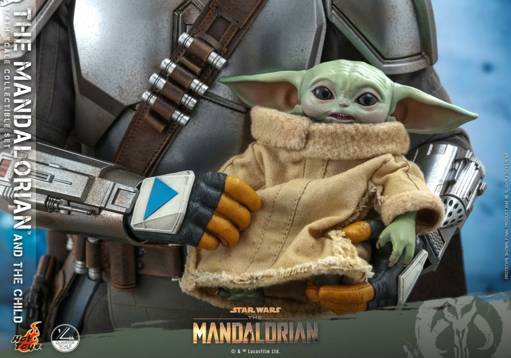 The Mandalorian & The Child Collectible Set - 1/4th Hot Toys 1028