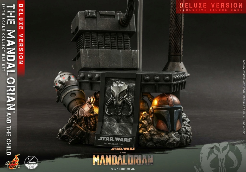 The Mandalorian & The Child Set (Deluxe) 1/4th - Hot Toys 1030