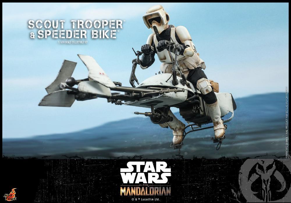 Scout Trooper & Speeder Bike Set 1/6 - Mandalorian - Hot Toy 1115