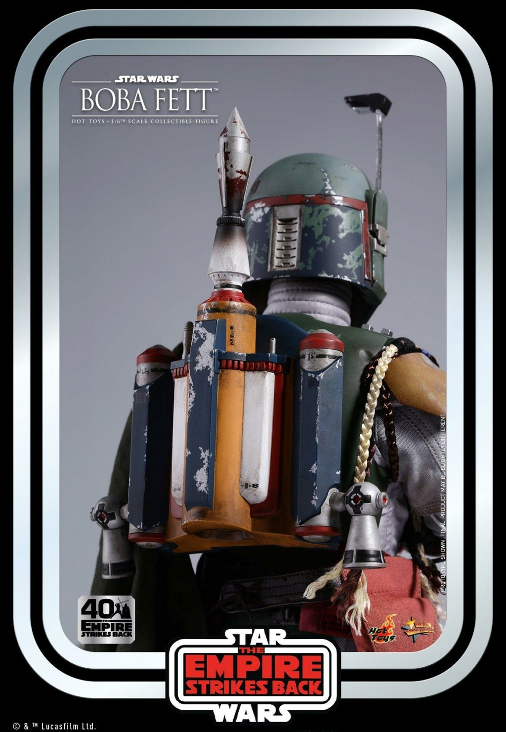 Boba Fett 1/6th scale Figure ESB 40th Anniv Hot Toys 1125