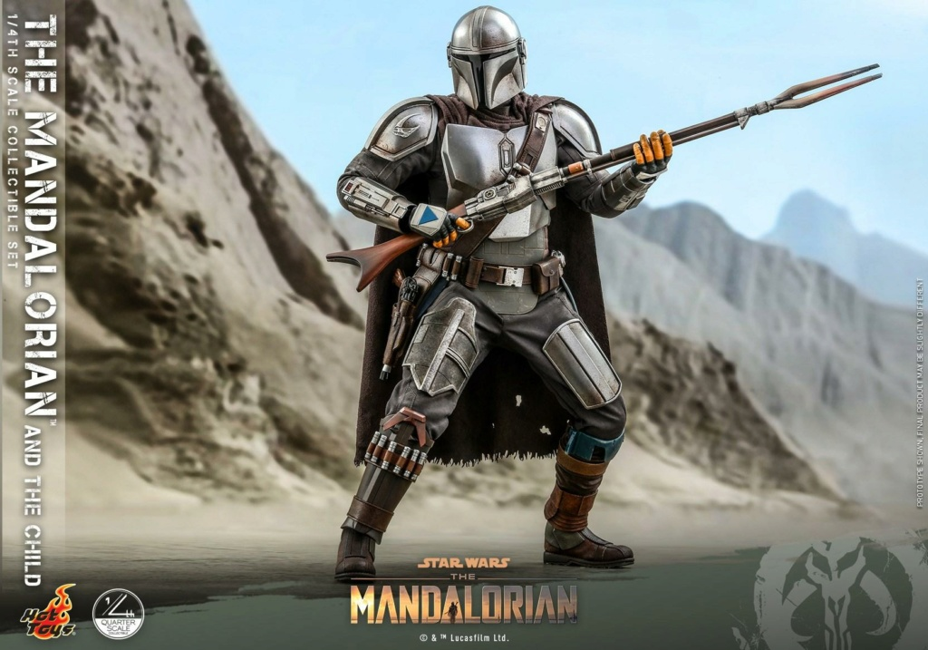 The Mandalorian & The Child Collectible Set - 1/4th Hot Toys 1126