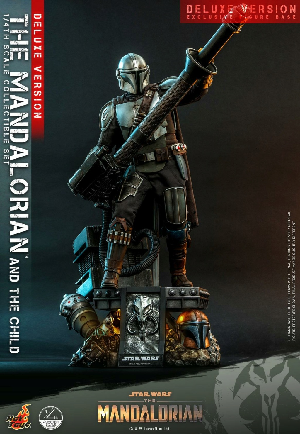 The Mandalorian & The Child Set (Deluxe) 1/4th - Hot Toys 1128