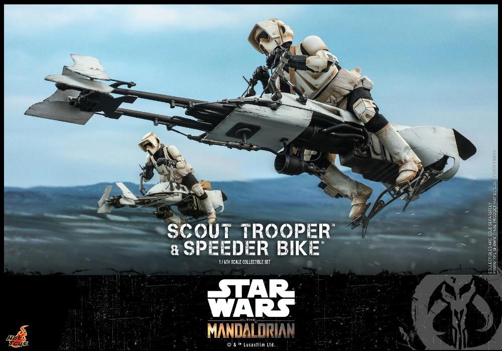 Scout Trooper & Speeder Bike Set 1/6 - Mandalorian - Hot Toy 1215