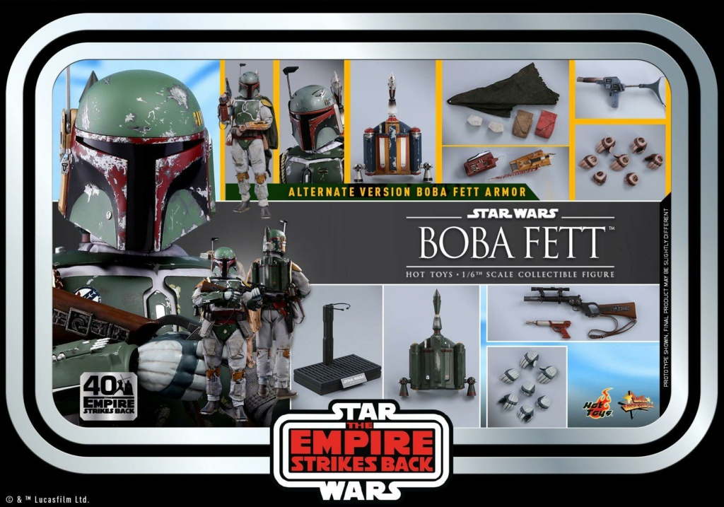 Boba Fett 1/6th scale Figure ESB 40th Anniv Hot Toys 1224