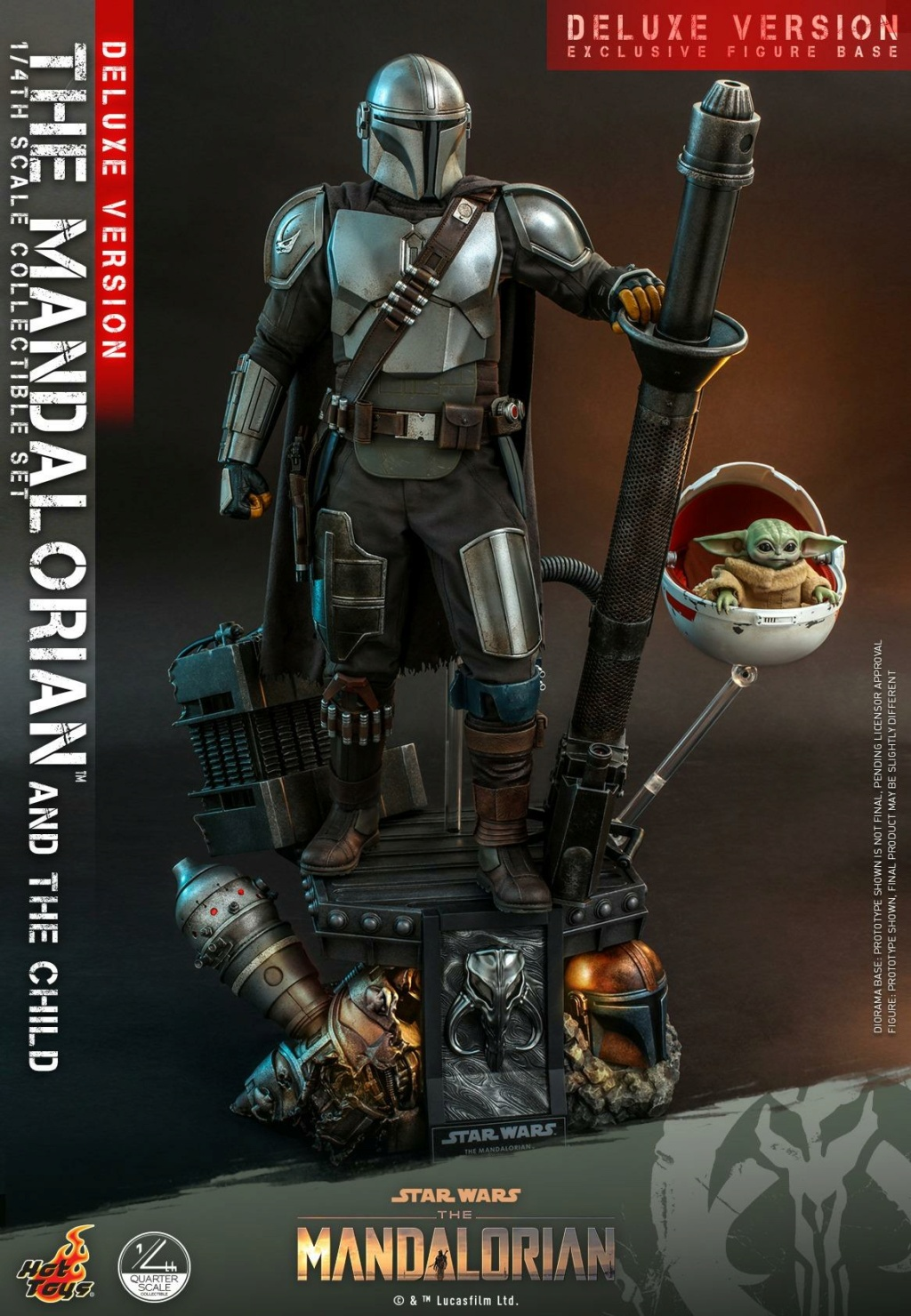 The Mandalorian & The Child Set (Deluxe) 1/4th - Hot Toys 1227