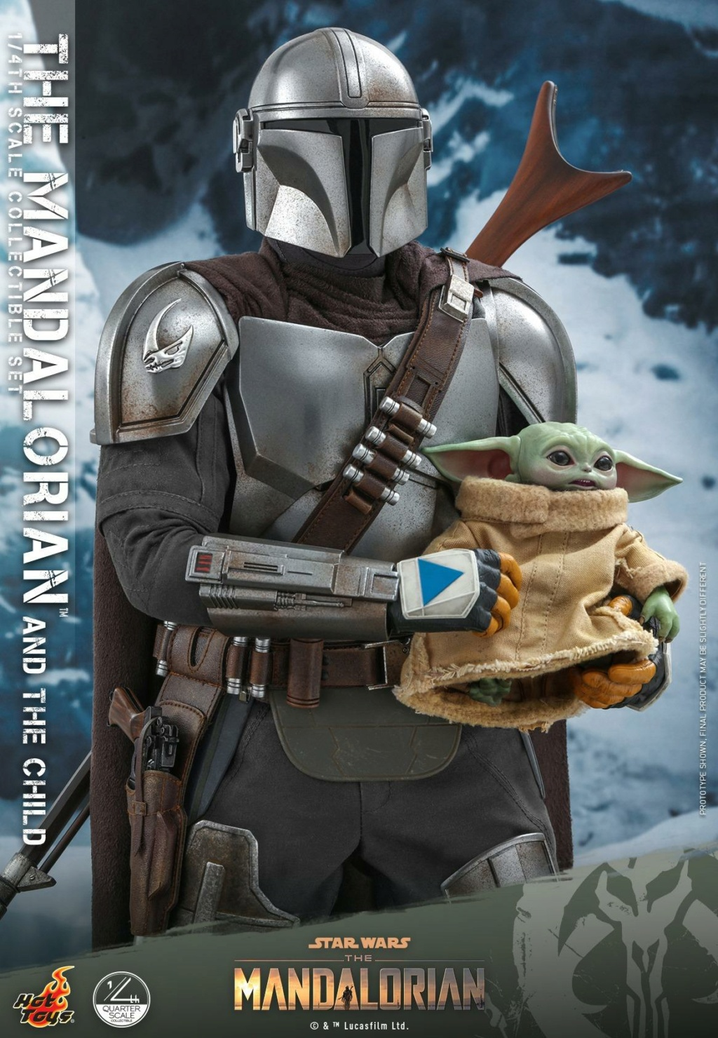 The Mandalorian & The Child Collectible Set - 1/4th Hot Toys 1325