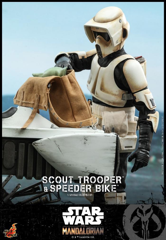 Scout Trooper & Speeder Bike Set 1/6 - Mandalorian - Hot Toy 1414