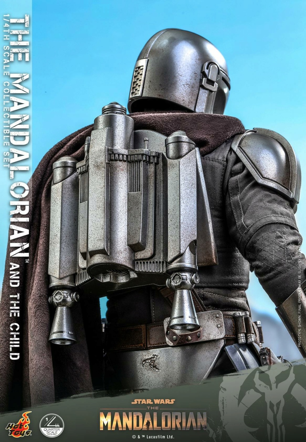 The Mandalorian & The Child Collectible Set - 1/4th Hot Toys 1425