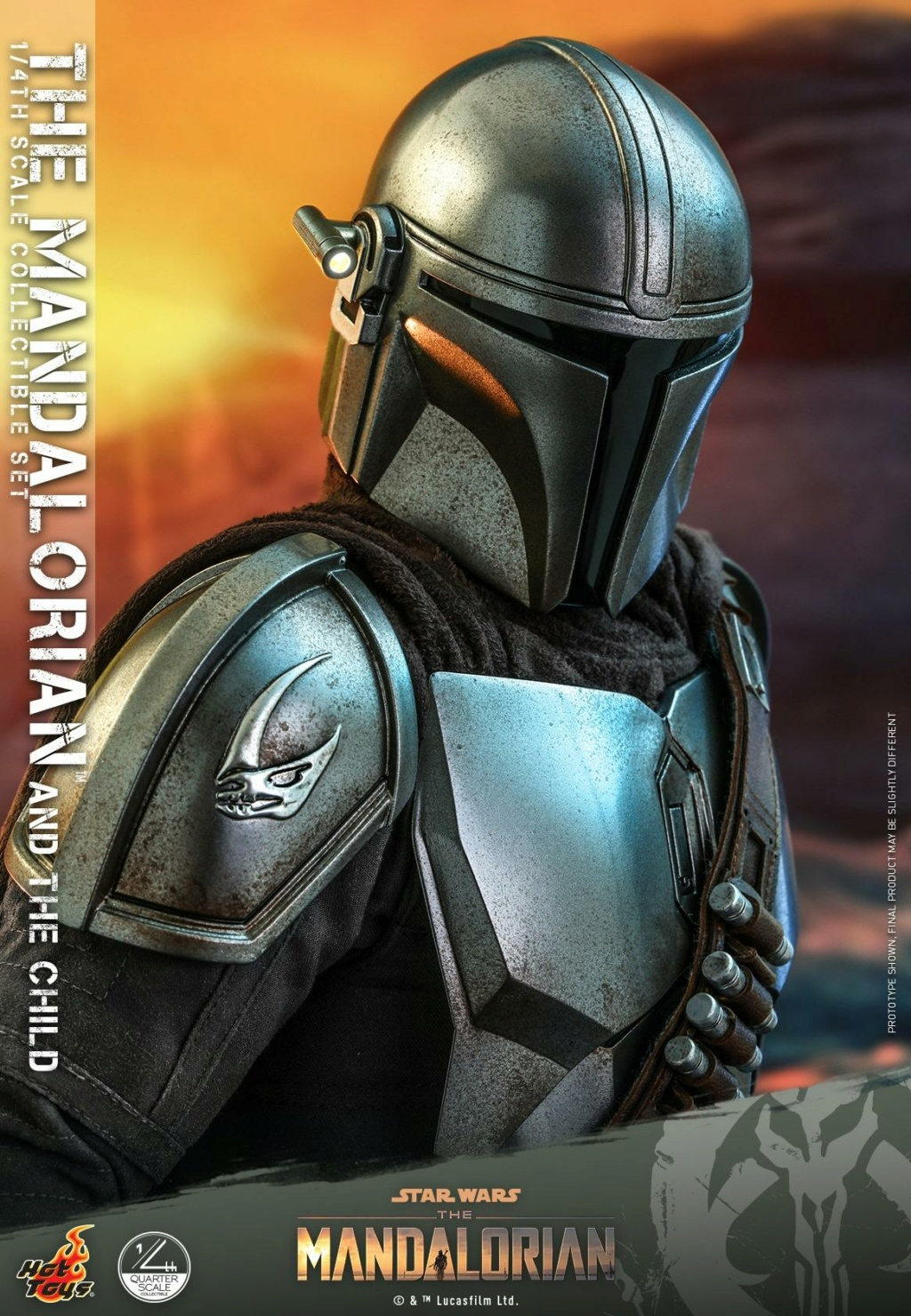The Mandalorian & The Child Collectible Set - 1/4th Hot Toys 1524