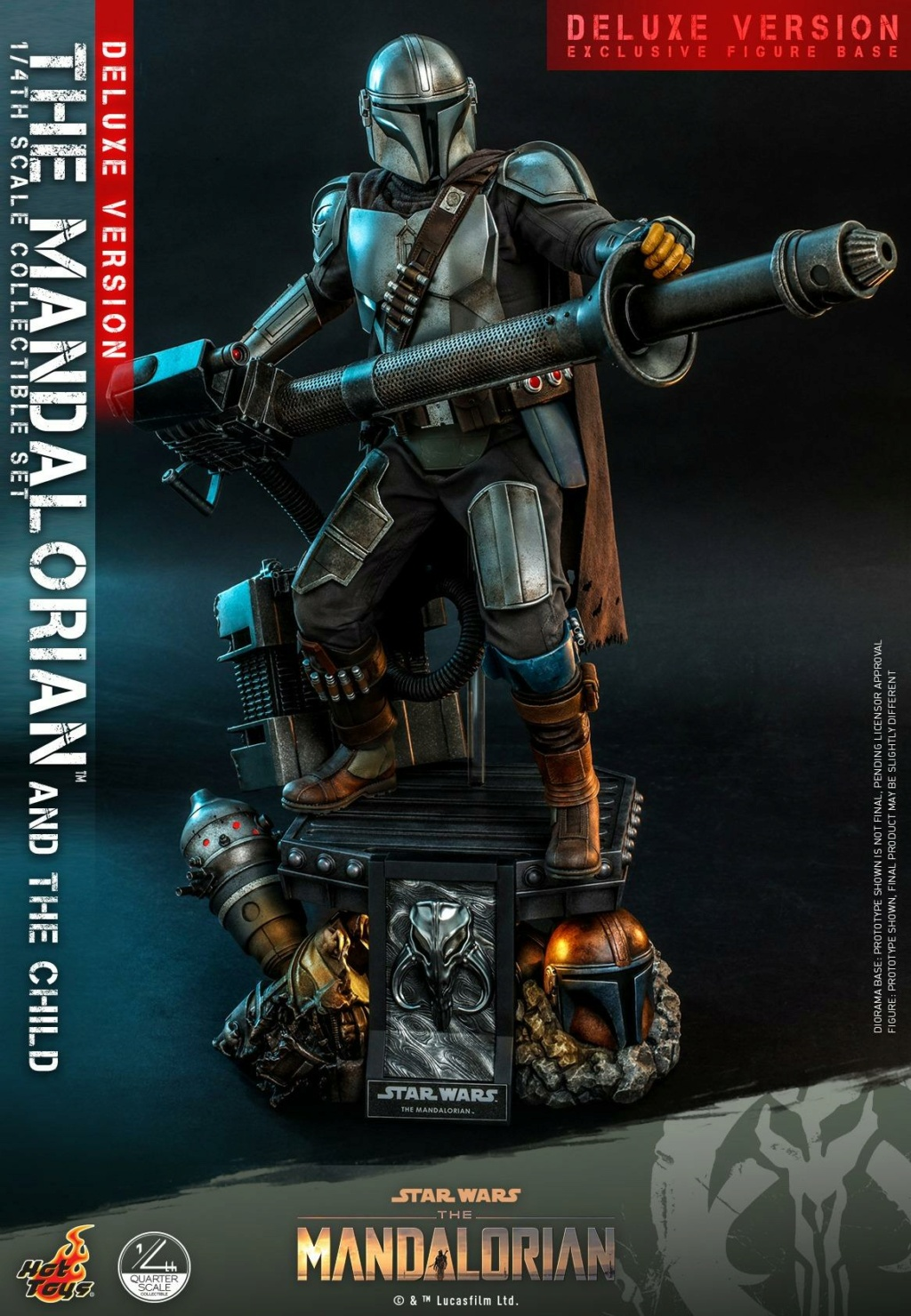 The Mandalorian & The Child Set (Deluxe) 1/4th - Hot Toys 1525