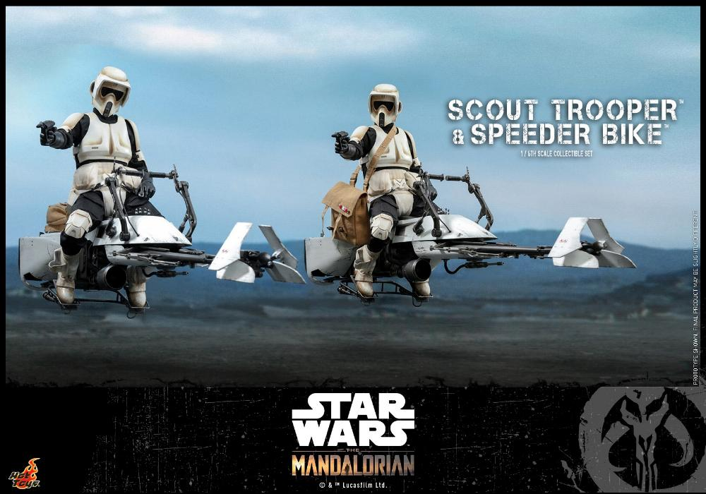 Scout Trooper & Speeder Bike Set 1/6 - Mandalorian - Hot Toy 1613