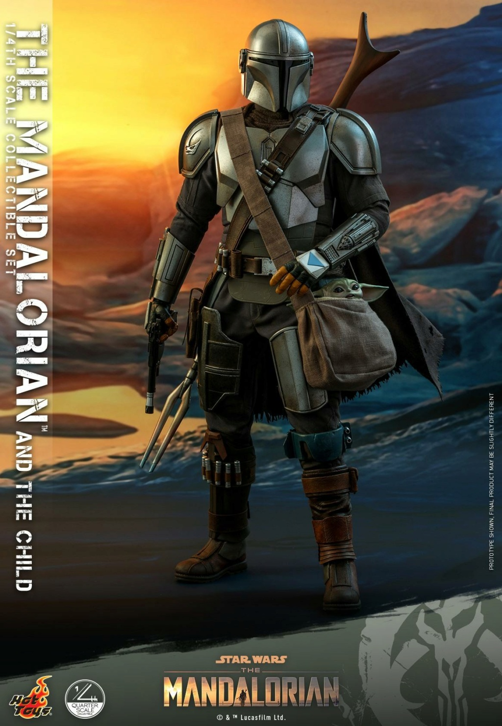 The Mandalorian & The Child Collectible Set - 1/4th Hot Toys 1622