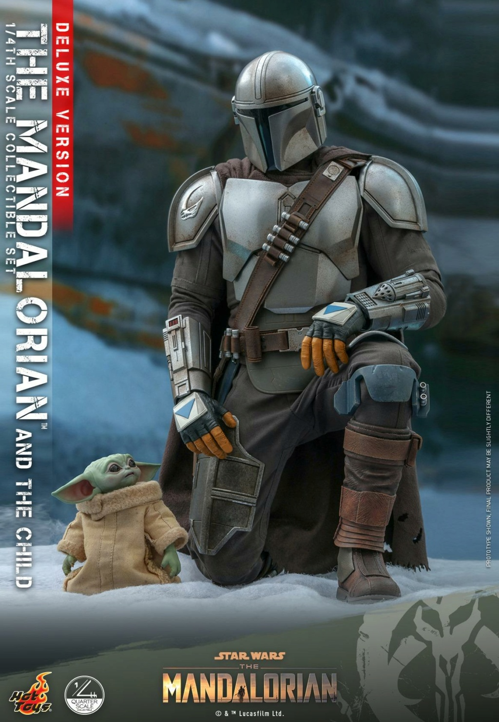The Mandalorian & The Child Set (Deluxe) 1/4th - Hot Toys 1623