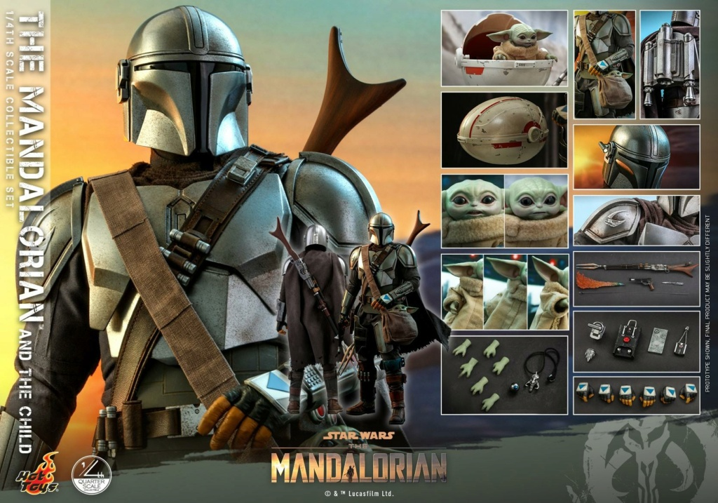 The Mandalorian & The Child Collectible Set - 1/4th Hot Toys 1722