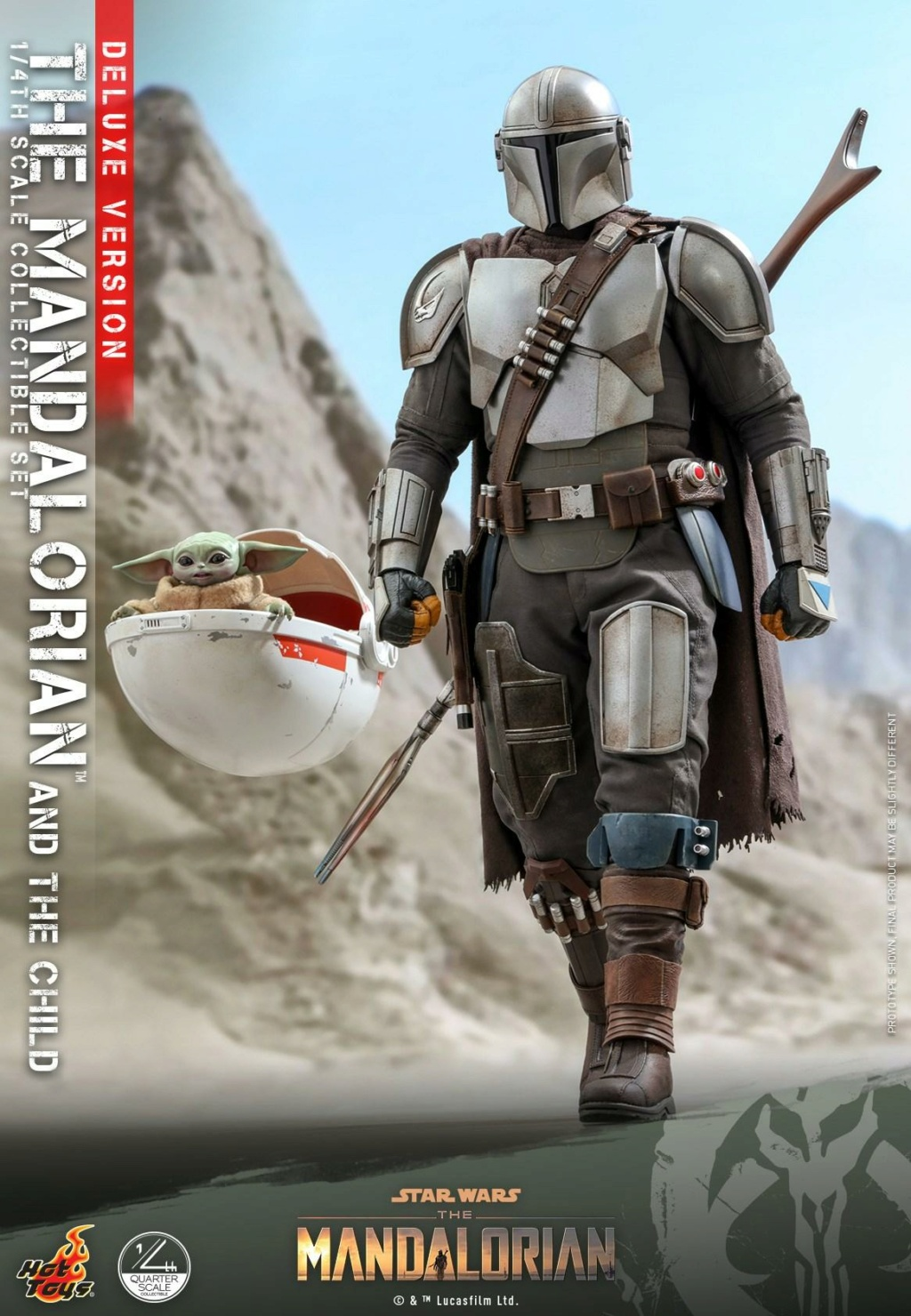 The Mandalorian & The Child Set (Deluxe) 1/4th - Hot Toys 1723