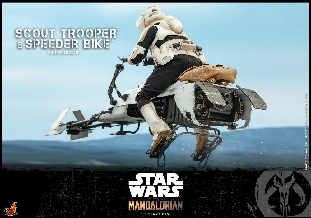 Scout Trooper & Speeder Bike Set 1/6 - Mandalorian - Hot Toy 1812