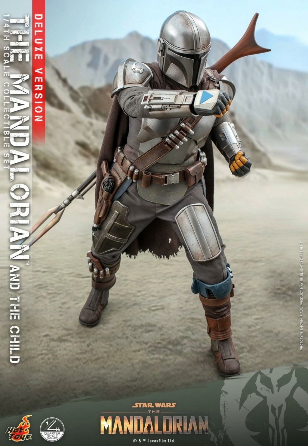 The Mandalorian & The Child Set (Deluxe) 1/4th - Hot Toys 1819