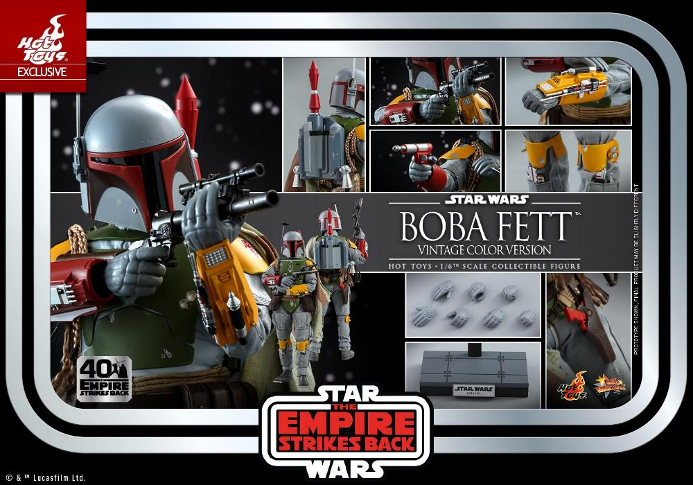 Boba Fett - 1/6th scale (Vintage Color Version) Hot Toys 2013
