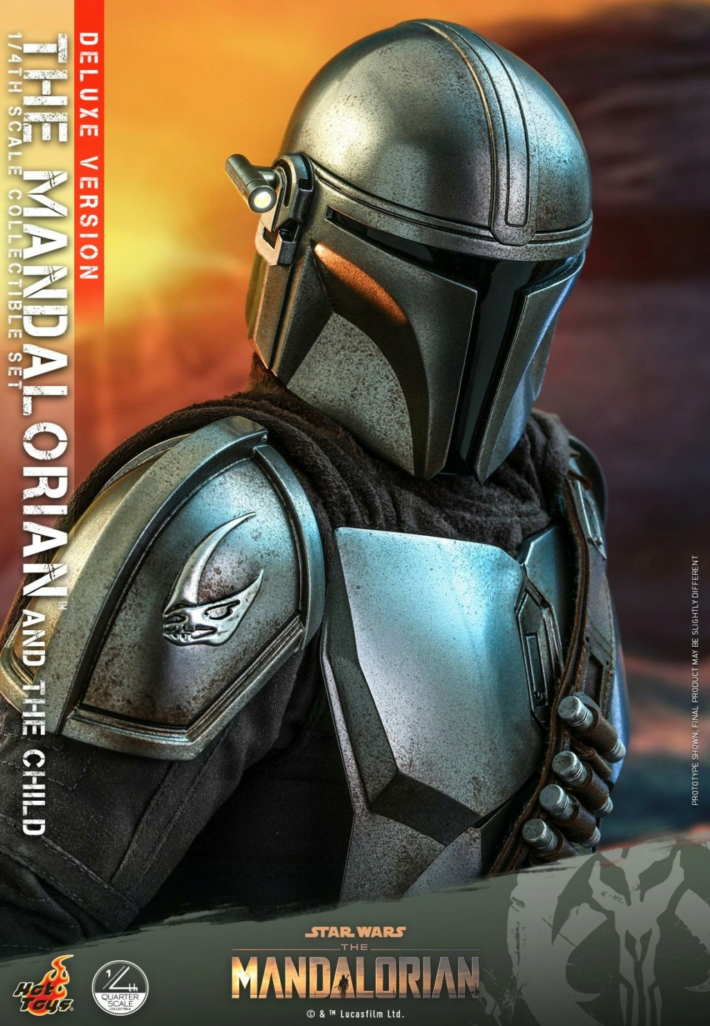 The Mandalorian & The Child Set (Deluxe) 1/4th - Hot Toys 2016