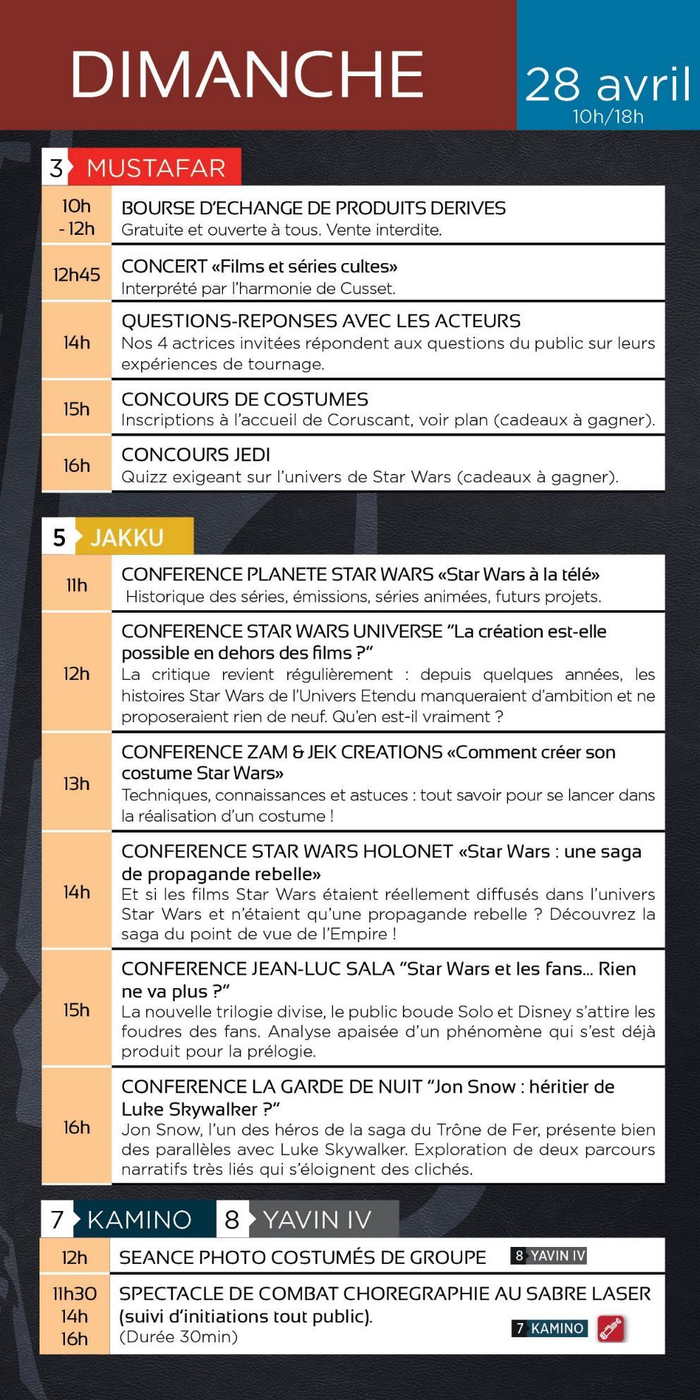 Générations Star Wars & SF - Cusset - 27-28 Avril 2019 2019_p10