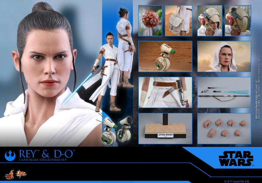 Rey & D-O Collectible Set - The Rise of Skywalker - Hot Toys 2110