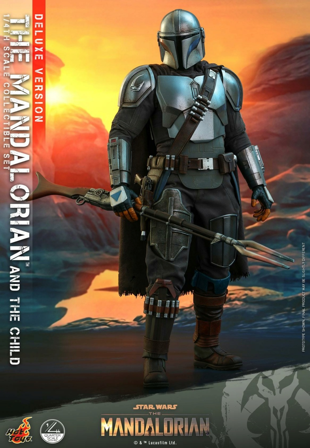 The Mandalorian & The Child Set (Deluxe) 1/4th - Hot Toys 2115