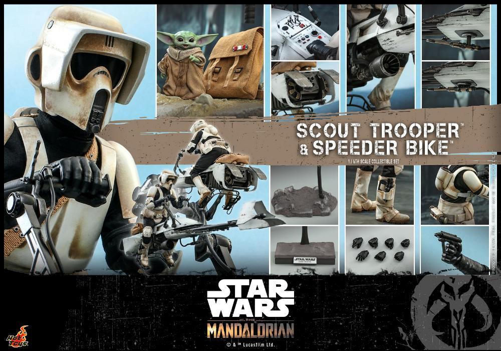 Scout Trooper & Speeder Bike Set 1/6 - Mandalorian - Hot Toy 2211
