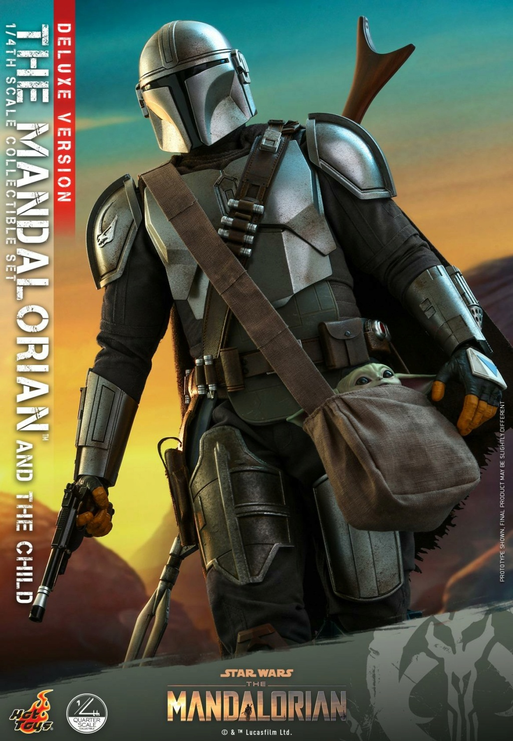 The Mandalorian & The Child Set (Deluxe) 1/4th - Hot Toys 2214