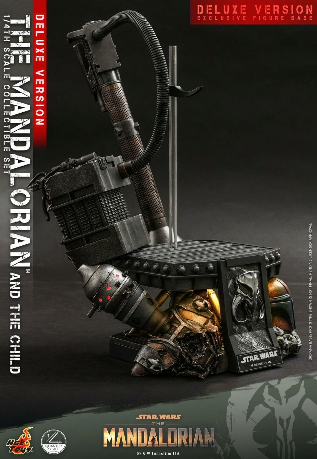 The Mandalorian & The Child Set (Deluxe) 1/4th - Hot Toys 2412