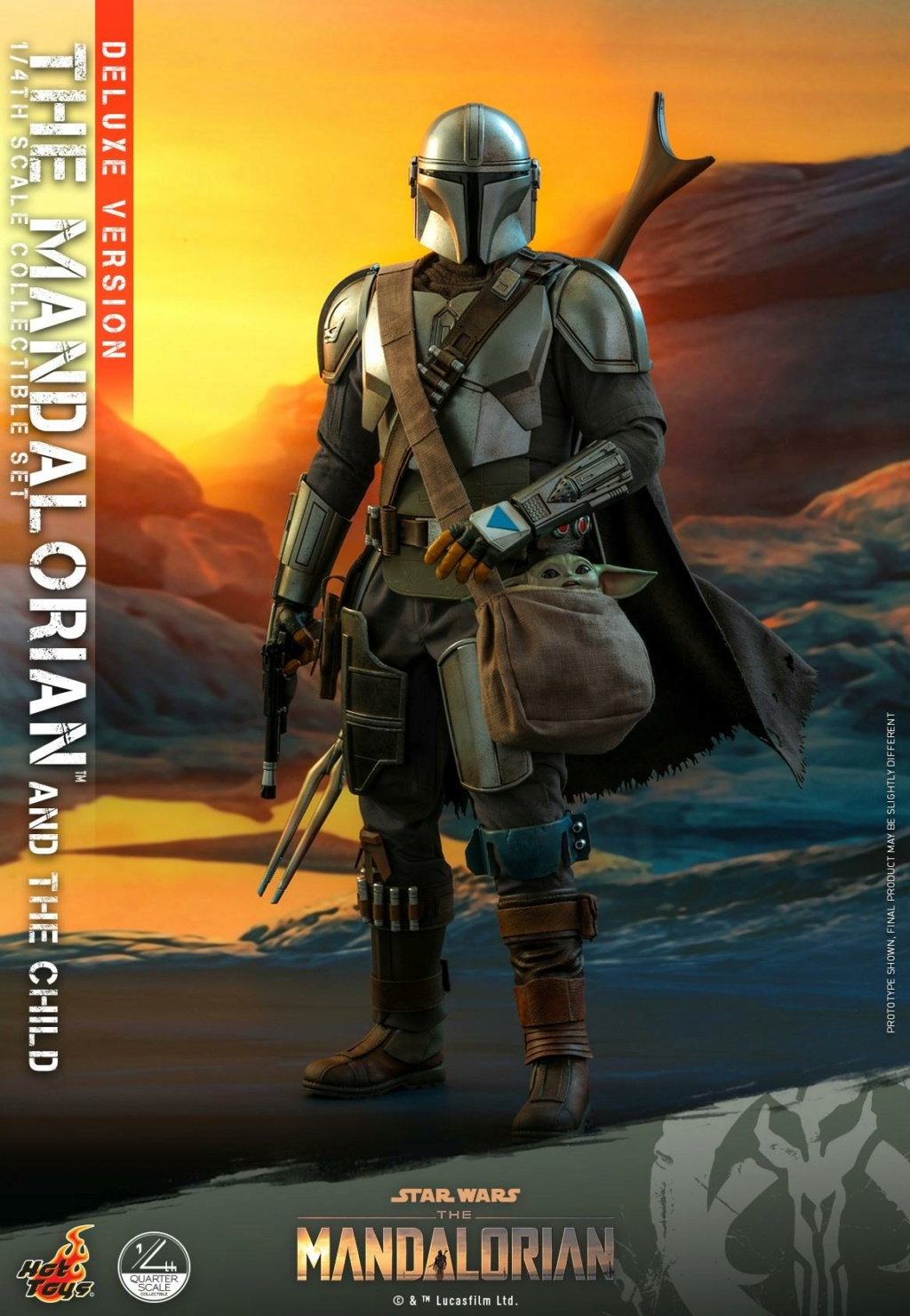 The Mandalorian & The Child Set (Deluxe) 1/4th - Hot Toys 2513