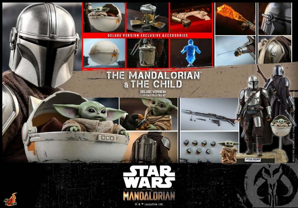 The Mandalorian & The Child Set - 1:6 - Hot Toys Star Wars 2611