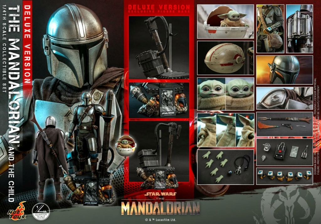 The Mandalorian & The Child Set (Deluxe) 1/4th - Hot Toys 2712