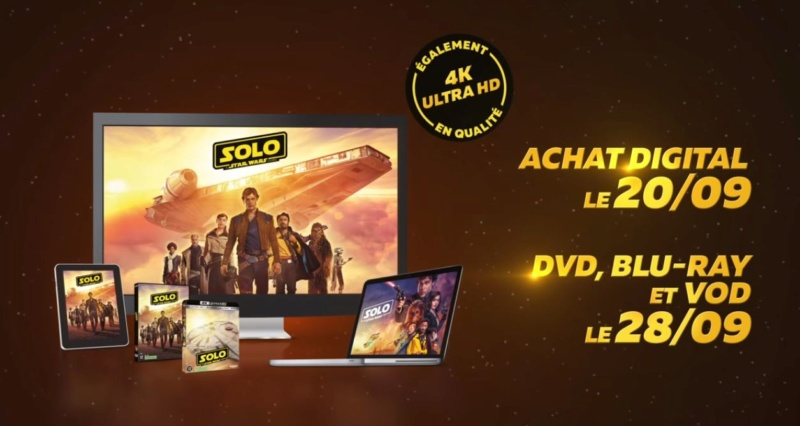 Solo - DVD Blu Ray Star Wars Solo A Star Wars Story  28sept10