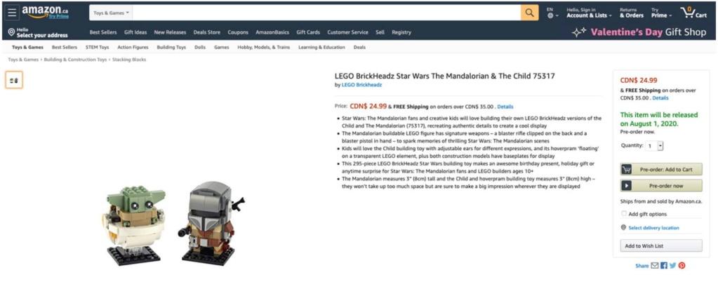 LEGO StarWars 75317 BrickHeadz The Mandalorian & The Child 75317_11