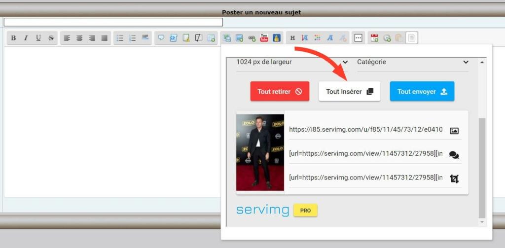 Comment afficher (et héberger) une image dans un message. A0410