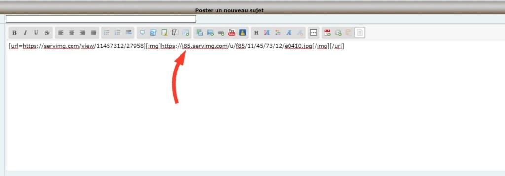 Comment afficher (et héberger) une image dans un message. A0510