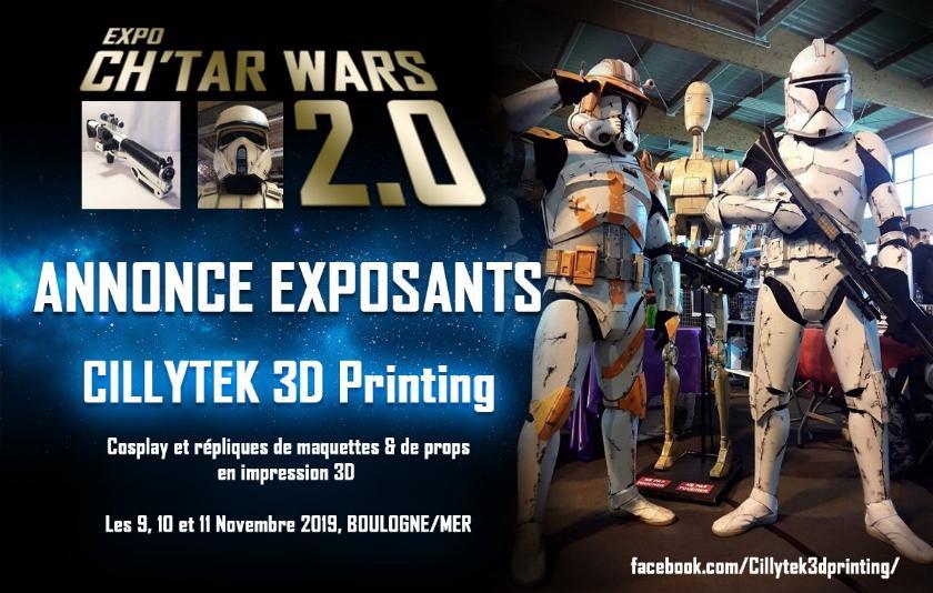 Expo CH'TAR WARS 2.0 Du 09 au 11 Novembre 2019 Annonc14