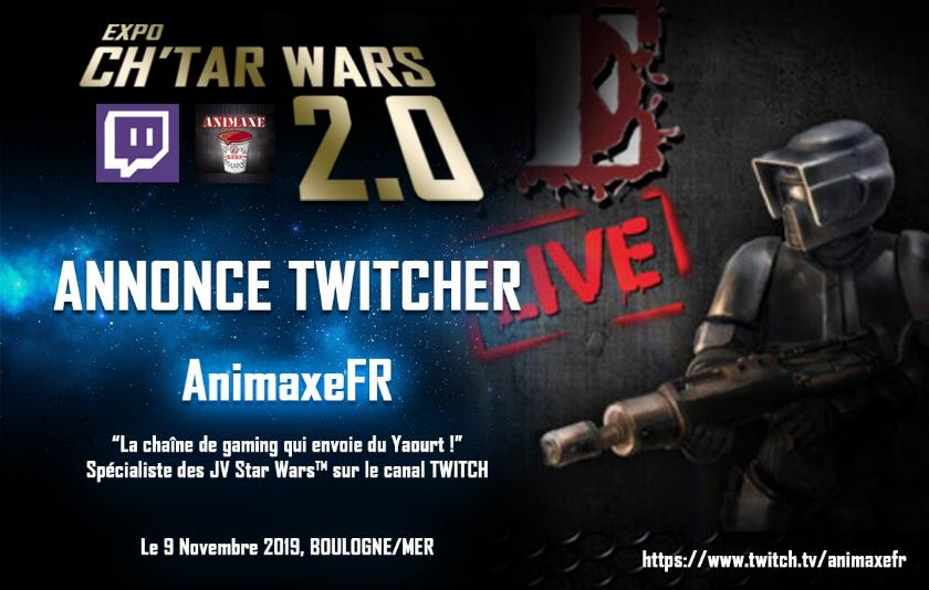 Expo CH'TAR WARS 2.0 Du 09 au 11 Novembre 2019 Annonc21