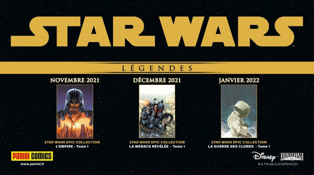 Les NOUVELLES des albums PANINI Star Wars LEGENDES Annonc40