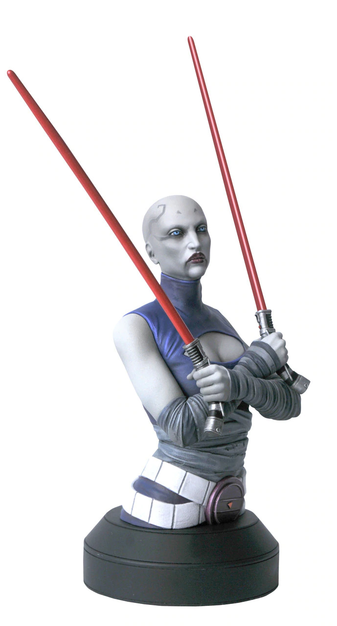 Asajj Ventress Mini Bust - Star Wars Clone Wars - Gentle  Asajj_10