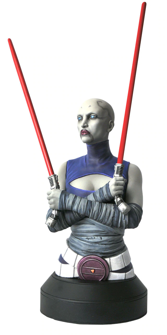 Asajj Ventress Mini Bust - Star Wars Clone Wars - Gentle  Asajj_11