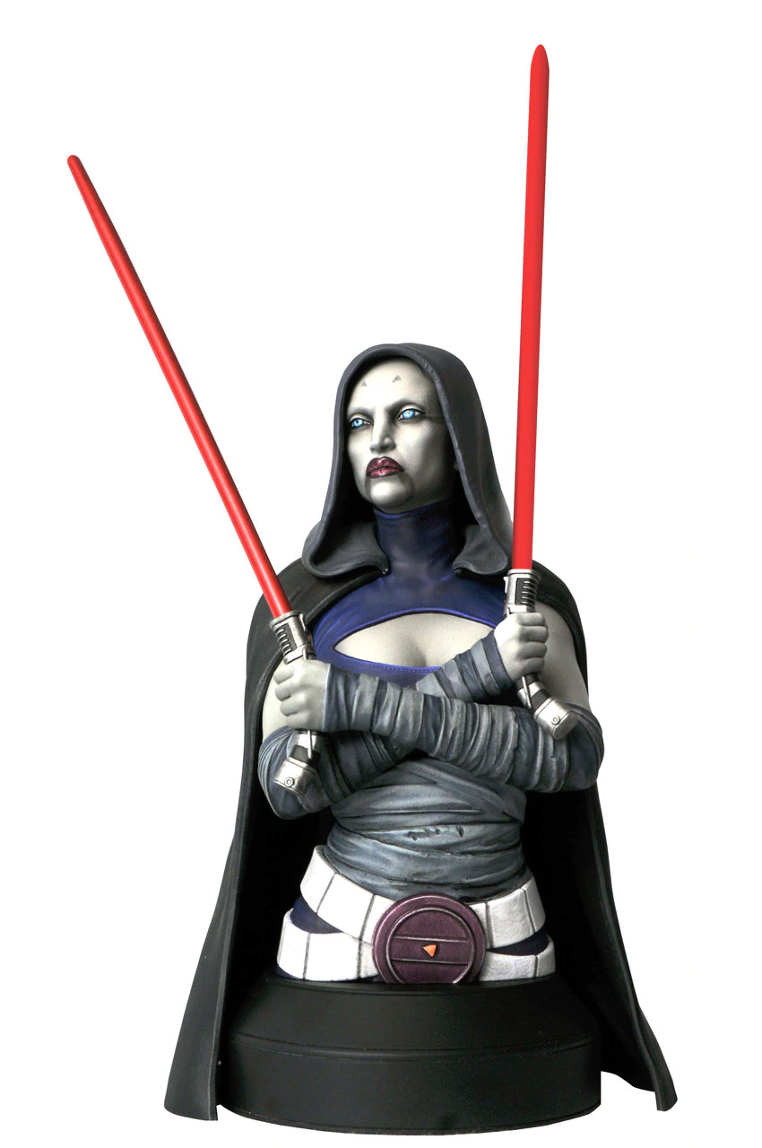 Asajj Ventress Mini Bust - Star Wars Clone Wars - Gentle  Asajj_12