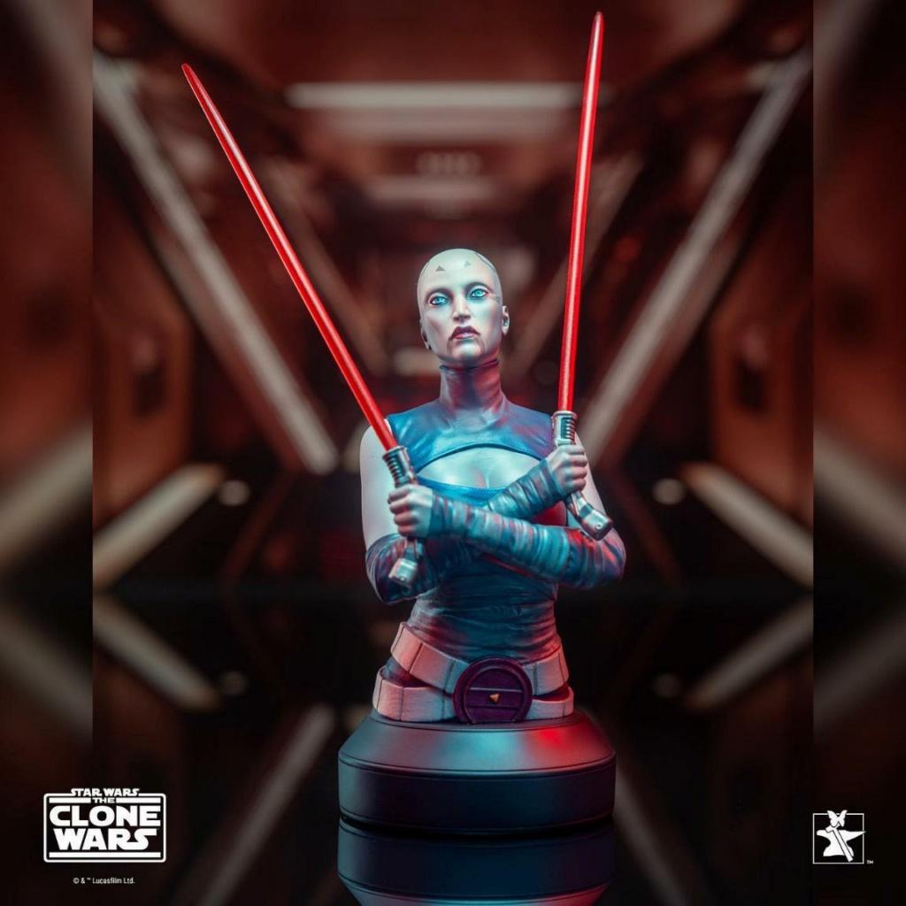 Asajj Ventress Mini Bust - Star Wars Clone Wars - Gentle  Asajj_14