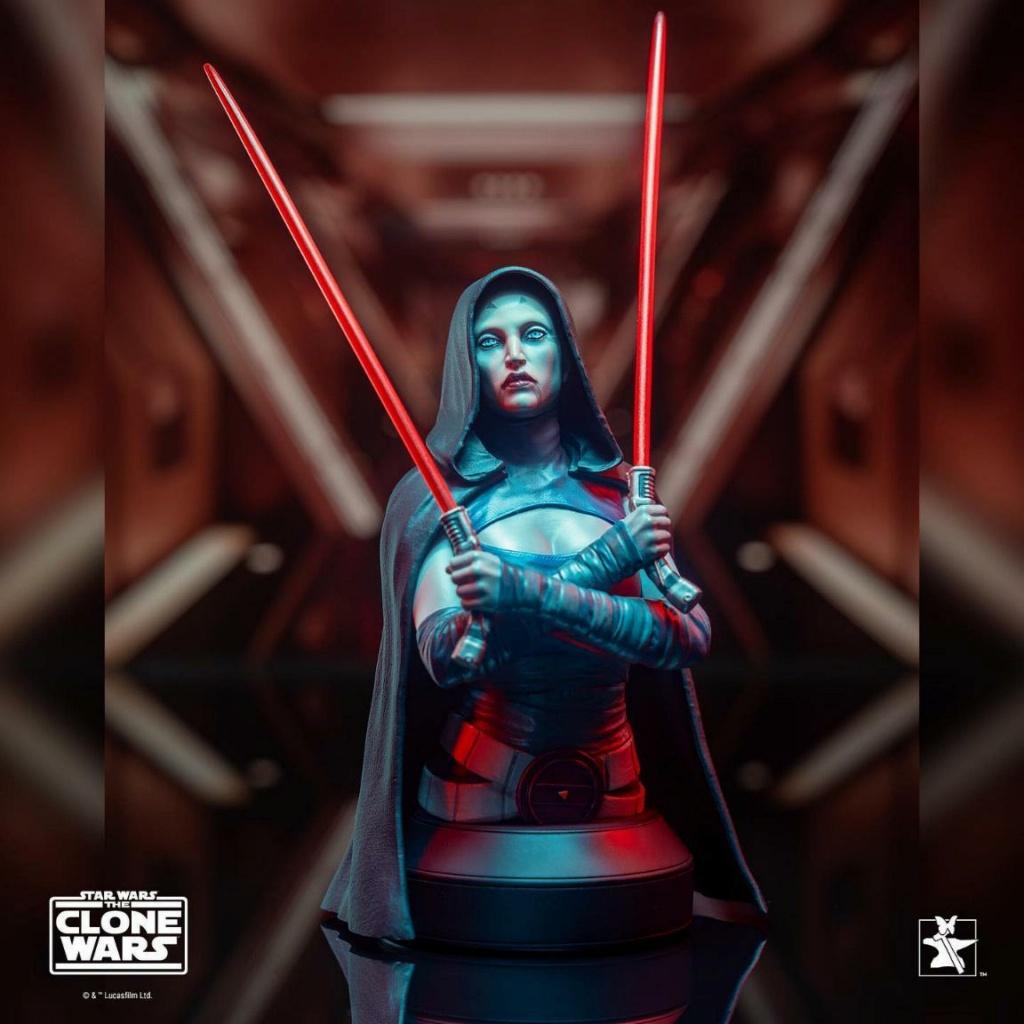 Asajj Ventress Mini Bust - Star Wars Clone Wars - Gentle  Asajj_15
