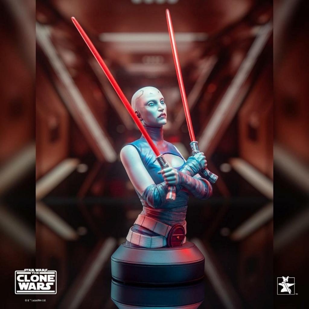 Asajj Ventress Mini Bust - Star Wars Clone Wars - Gentle  Asajj_16
