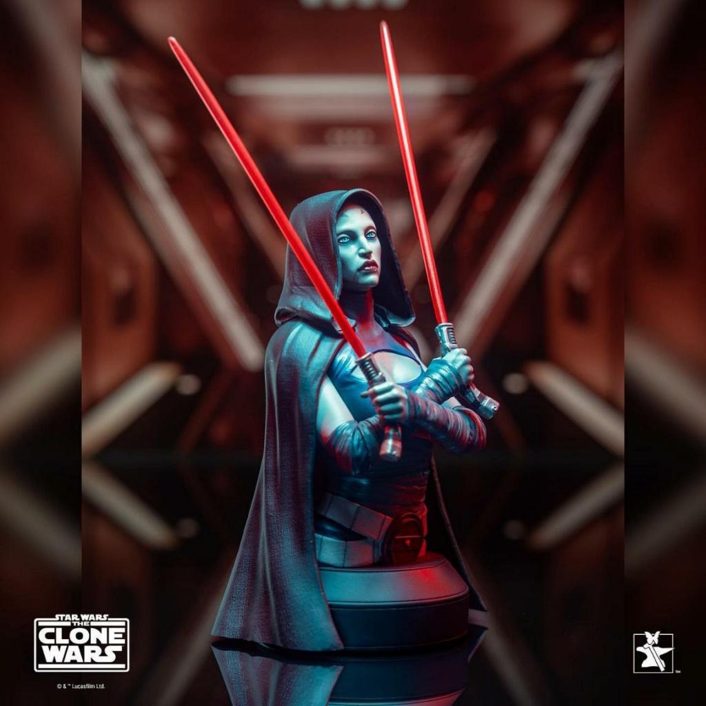 Asajj Ventress Mini Bust - Star Wars Clone Wars - Gentle  Asajj_17
