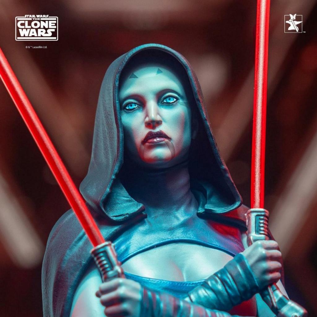 Asajj Ventress Mini Bust - Star Wars Clone Wars - Gentle  Asajj_19