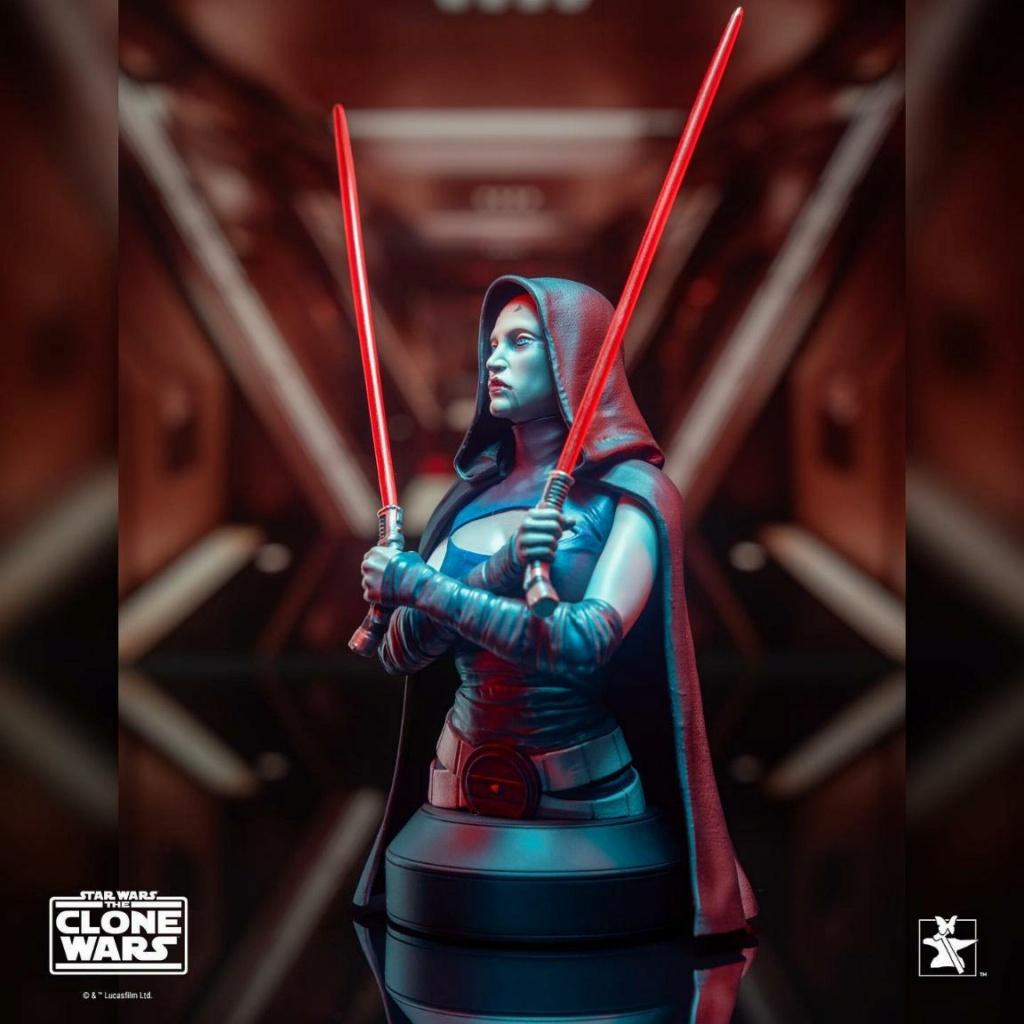 Asajj Ventress Mini Bust - Star Wars Clone Wars - Gentle  Asajj_20